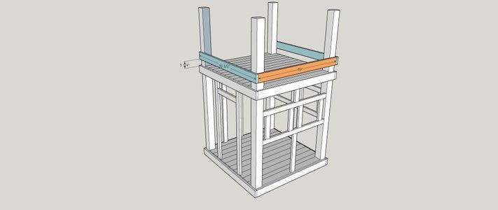Step 8:  Top Decking Bottom Support