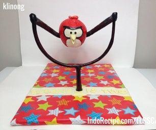 Angry Bird on Slingshot