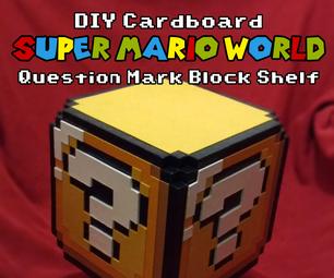 DIY Cardboard Super Mario World Question Mark Block Shelf