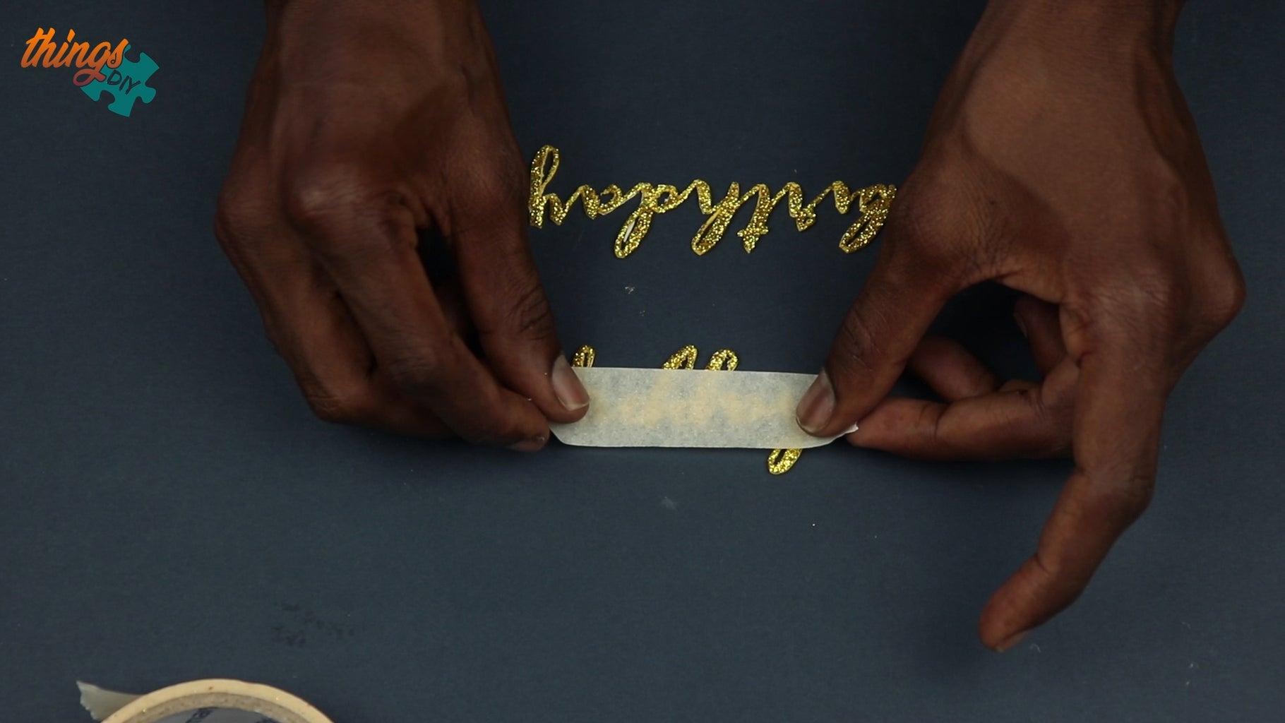 Paste 'Happy Birthday' Cutout Onto Card