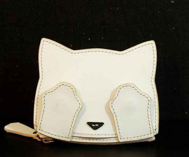 Leather Cat Card Holder