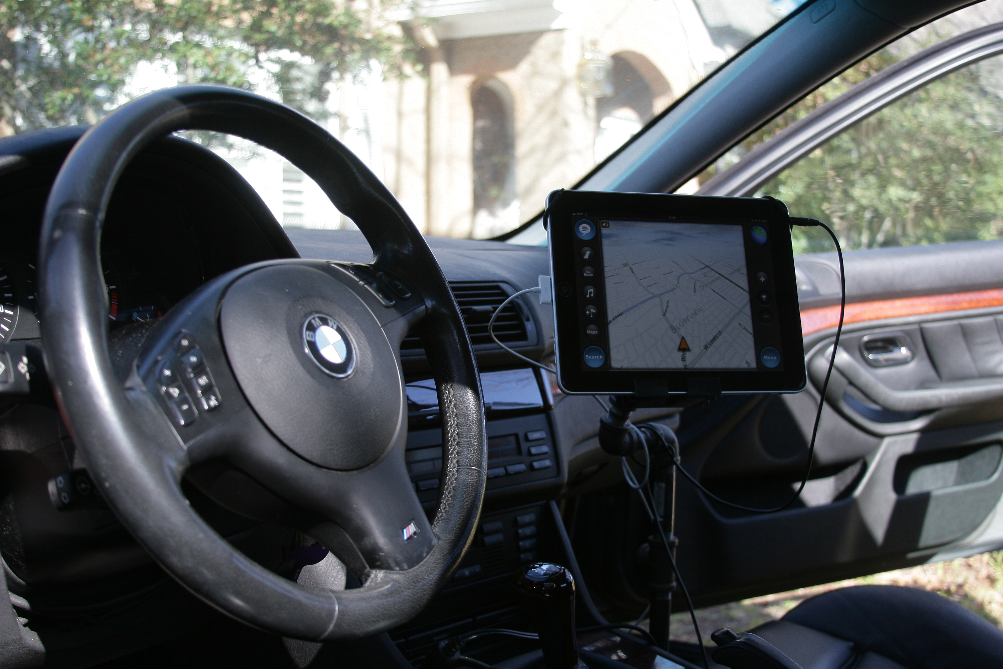 Hardware store sourced car iPad/ tablet mount for driver