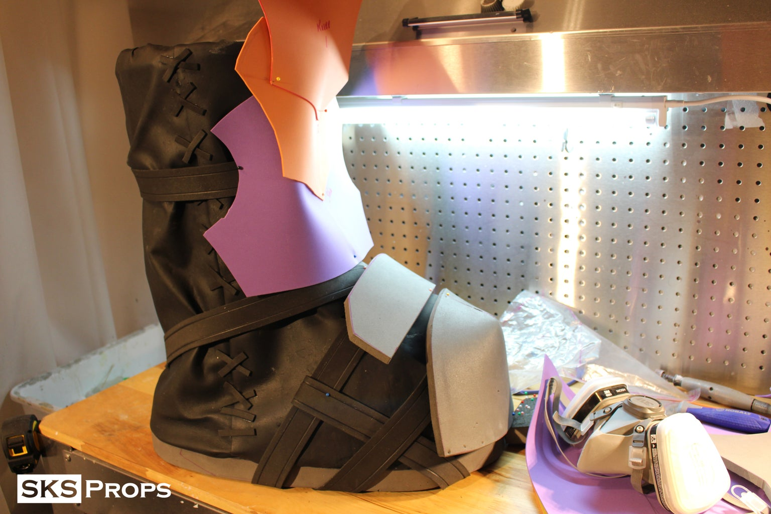 Skinning the Boots and Mocking Up Armor