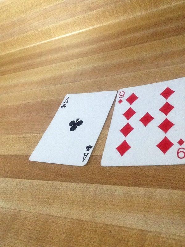 David Blaine Hand Sandwich Card Trick