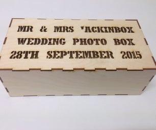 婚礼照片盒礼物