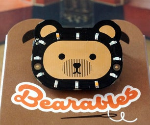CircuitPython and Bearables Badge: Simple Example