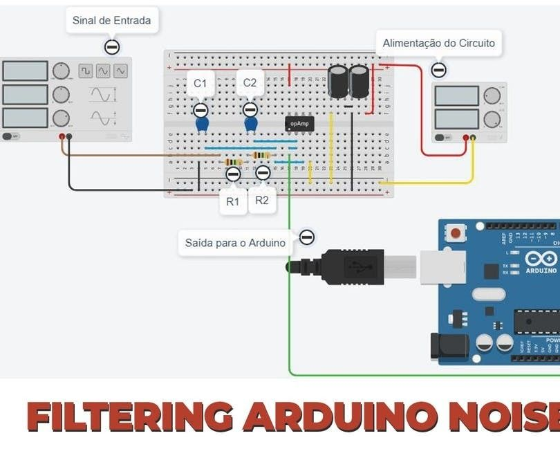 Active Low Pass Filter RC Applied in Projects With Arduino
