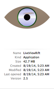 Get Live View Rift (abbreviated to LVR)