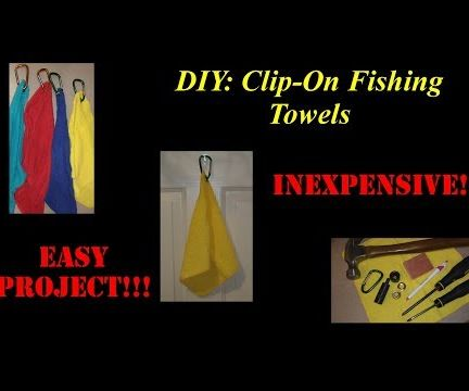 DIY Clip-On Fishing Towels