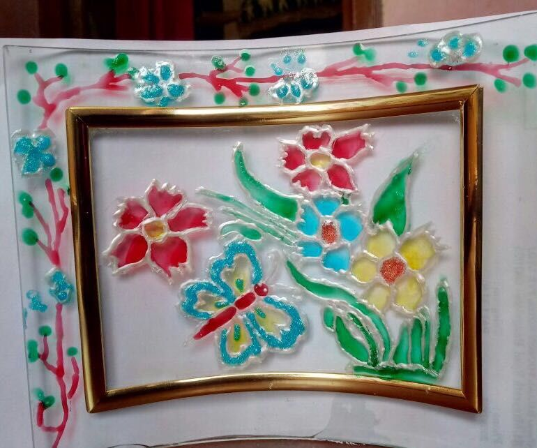 Colorfull Glass Painting