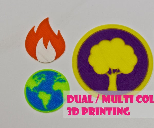 Dual or Multi Color 3D Printing With Single Extruder