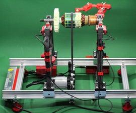 Simple Rotor Balancing Machine