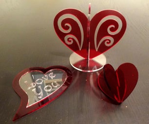 Laser Cutting and Acrylic Welding Valentine Hearts.