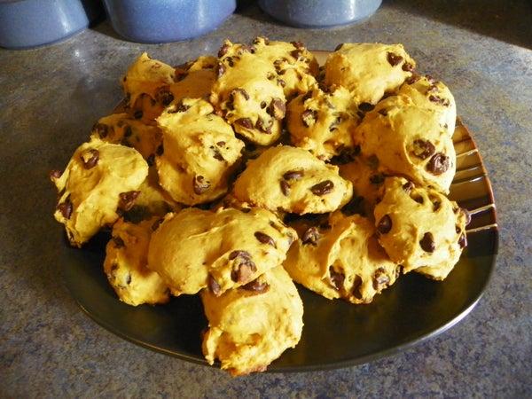 Pumpkin Chocolate-chip Cookies