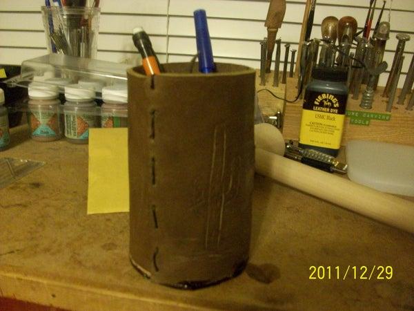 Custom Leather Cup