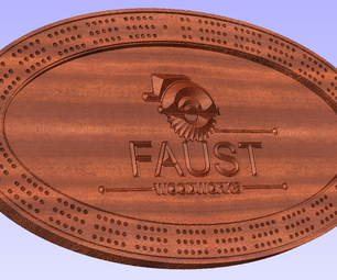 CNC Oval Cribbage Board