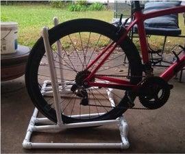 锁定PVC自行车架
