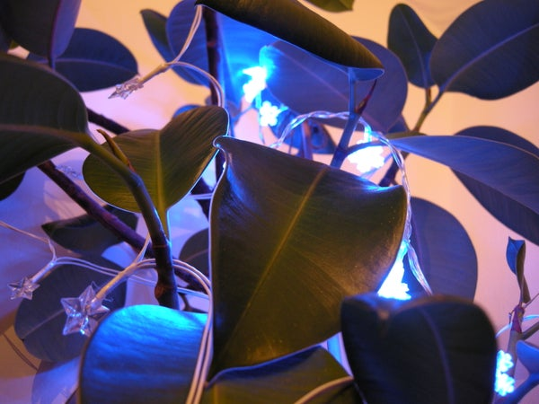 Geiger Counter Triggered LED Decorations