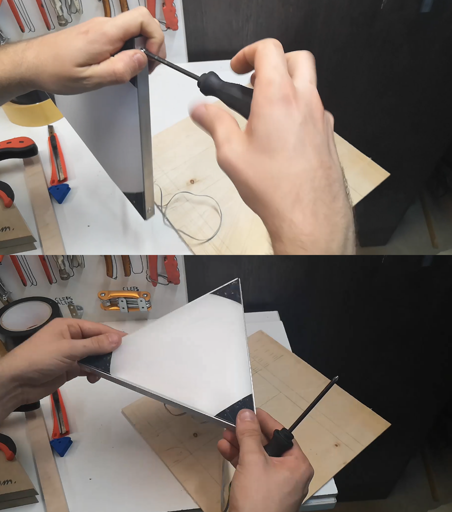 Montage Des Films Avec Le Cadre / Assembly of the Films With the Frame