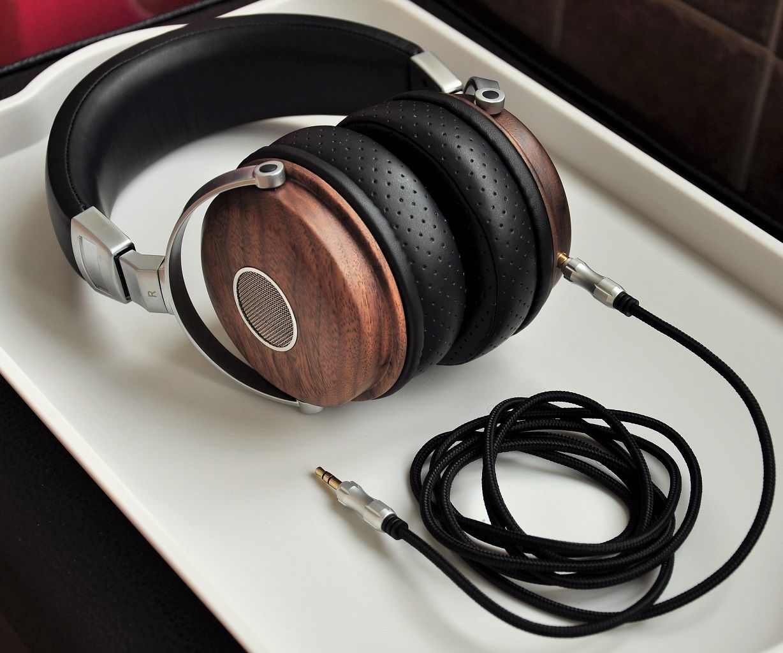 Black Walnut Wooden Shell Headphone With 40 or 50mm Sennheiser Drivers