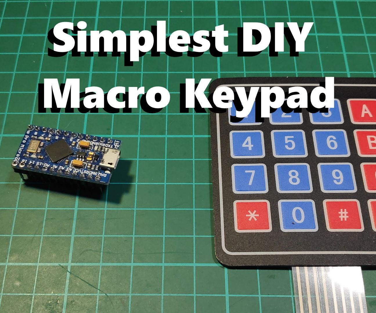 The Simplest DIY Macro Keypad