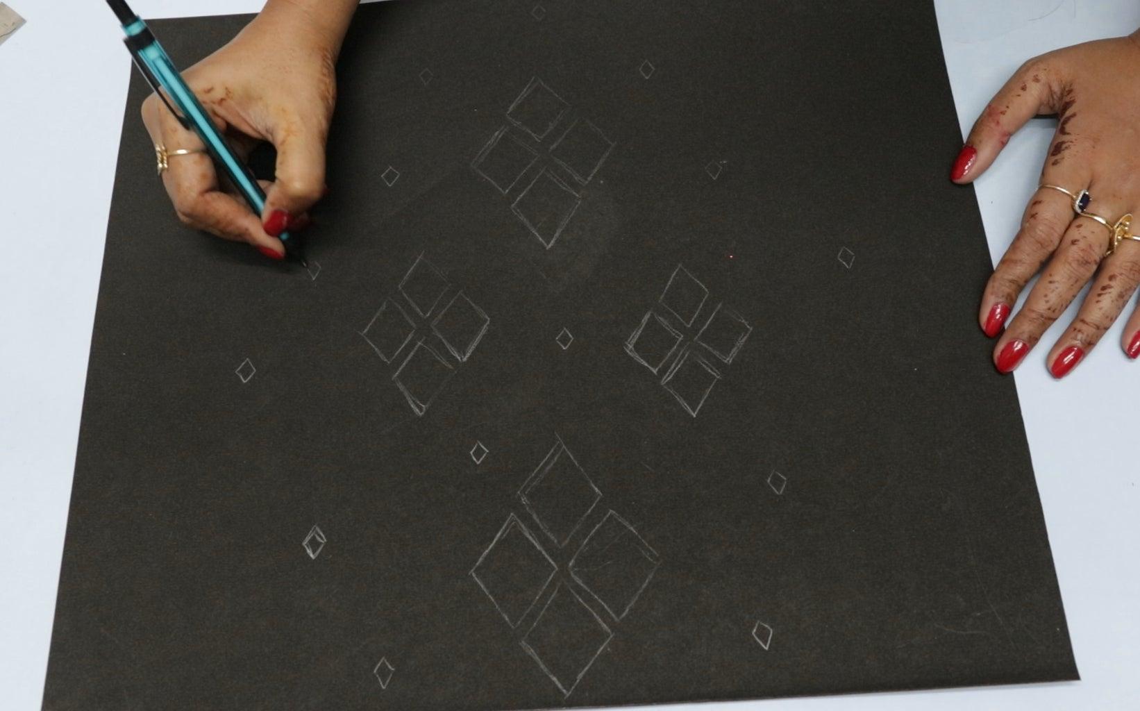 Draw Patterns on Craft Sheet