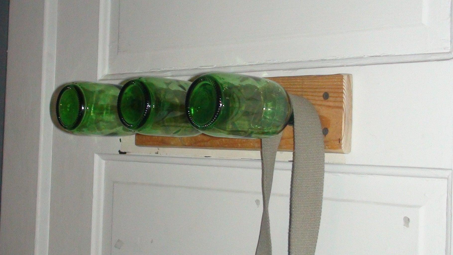 Glass Bottle Coat Rack