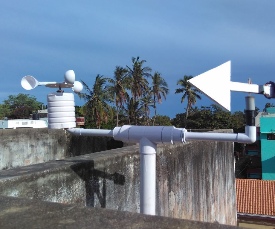 DIY Anemometer and Windvane for Standalone Weather Station