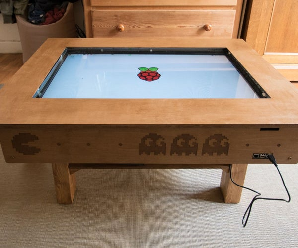 """Touch Screen Coffee Table DIY With 32"""" TV and Low Cost CCD Sensor"""