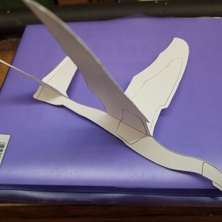 Card Stock Flying Dragon Paper Airplane