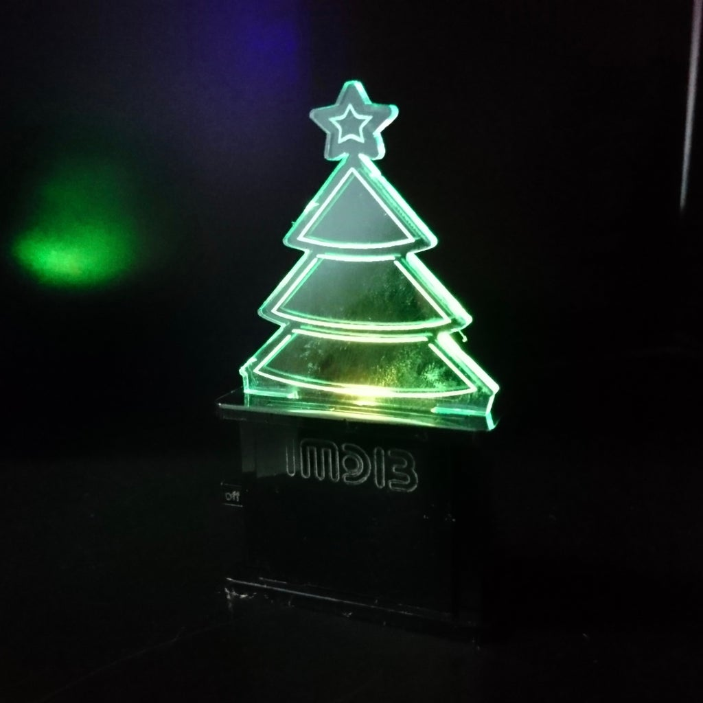Acrylic LED Display With Lasercut Switch