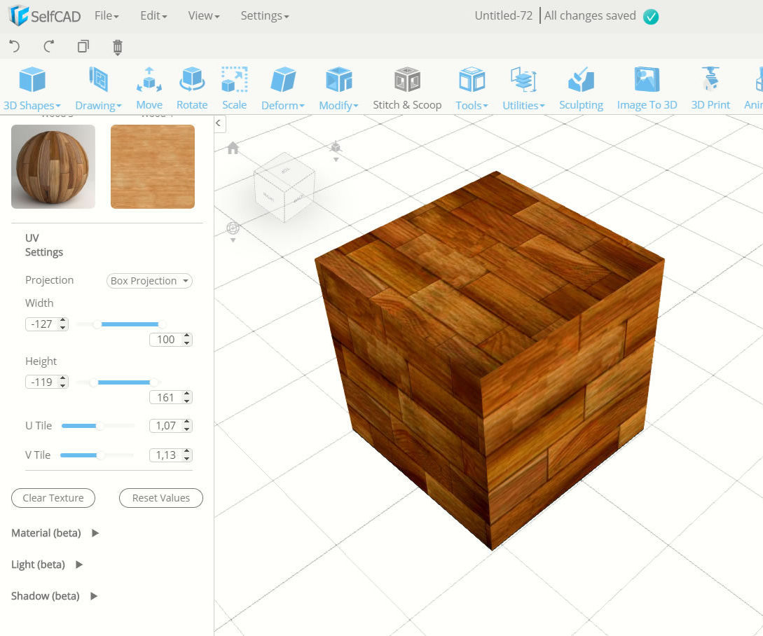 SelfCAD 3D Model With Texture