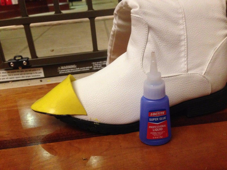 Glue Down the Toe Piece