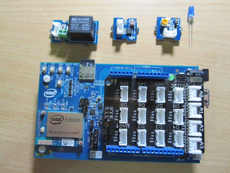 Home Automation: Control Relay Base on Light Sensor (Intel Edison)