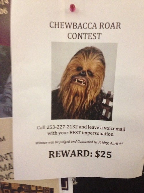 Wookie Impression Contest