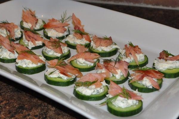 Cucumber, Cream Cheese & Smoked Salmon/Steelhead