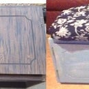 Ugly Old Cabinet to Comfortable Padded Bench