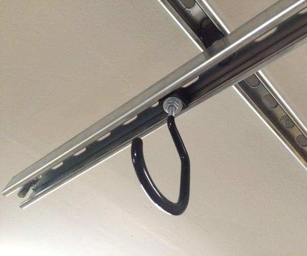 Overhead Garage Bicycle Storage System