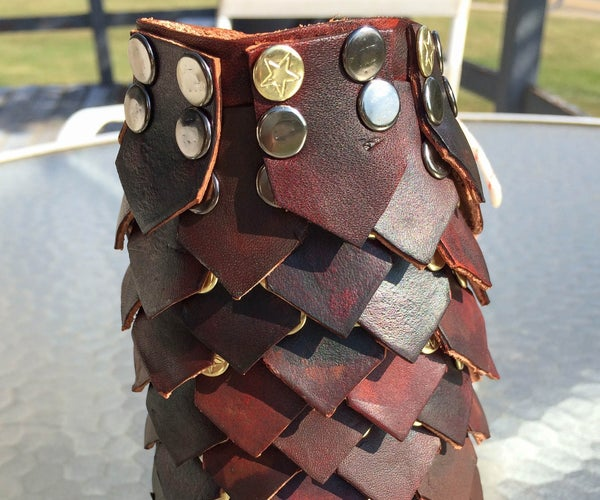 Leather Dragon Scale Gauntlet