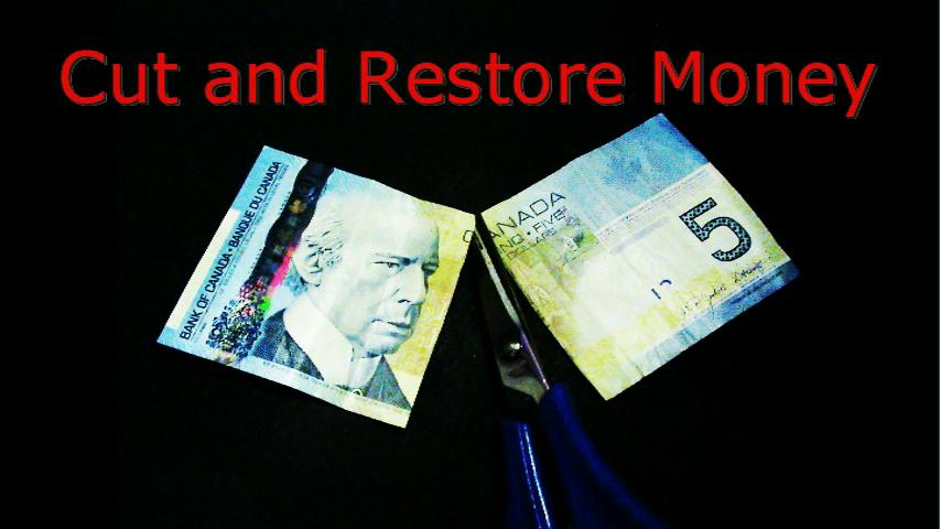 Make a Magic bill you can cut  and restore ! Amazing