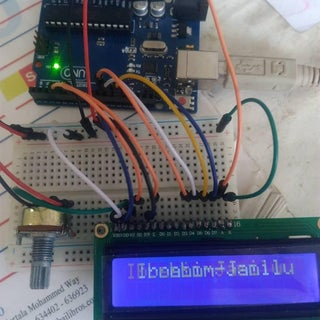 LCD 1602 With Arduino Uno R3