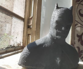 Concrete Batman Bust- Easy Peasy
