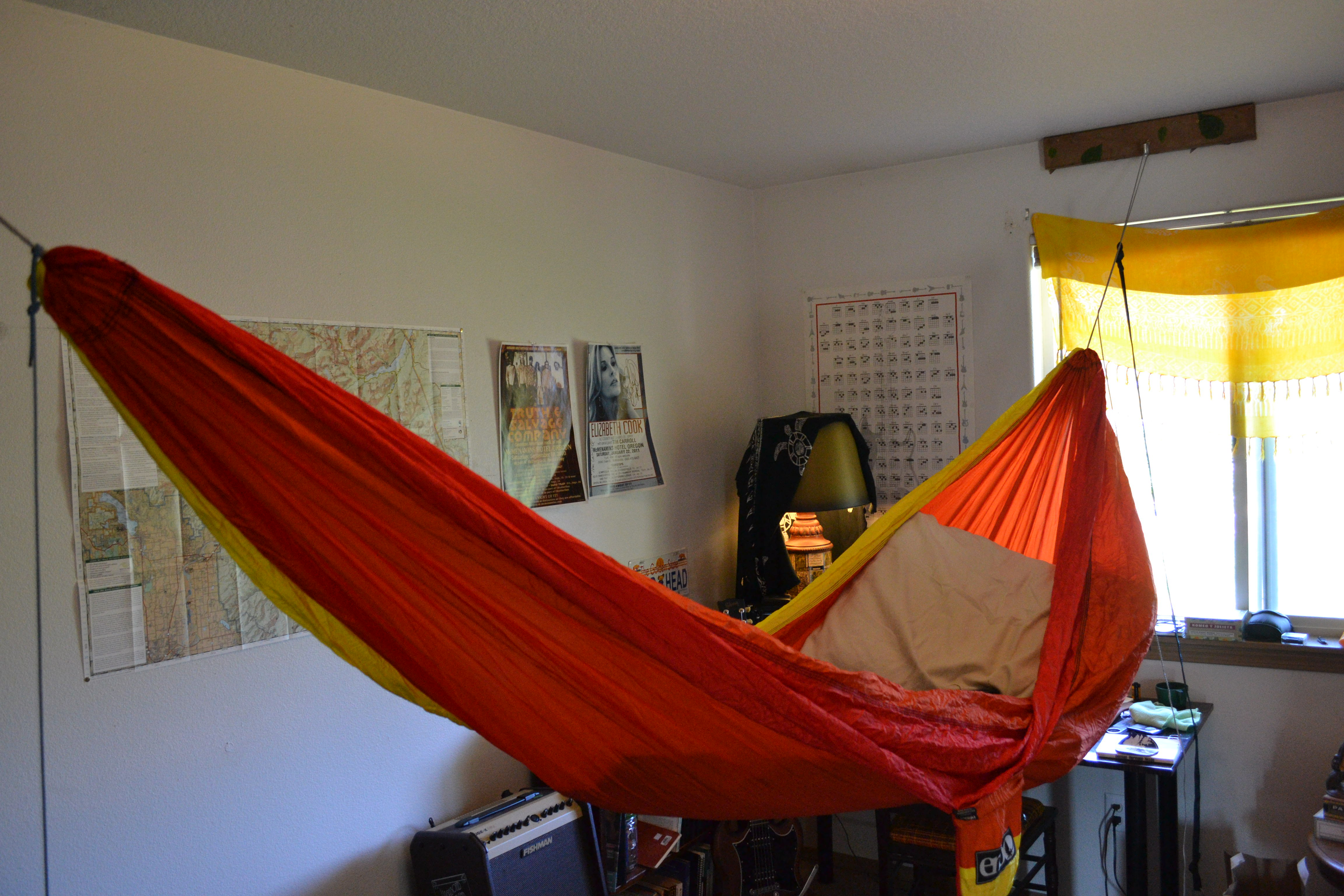 Hang your hammock indoors