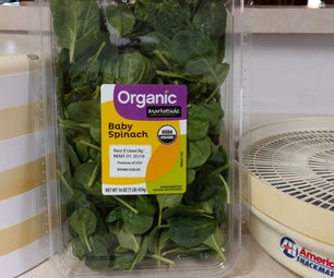 Dehydrating Organic Spinach Fast