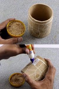 Let's Stick the Sand on Cardboard!