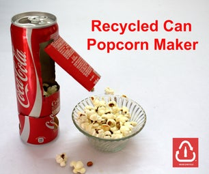 Recycled Coke Can Popcorn Maker