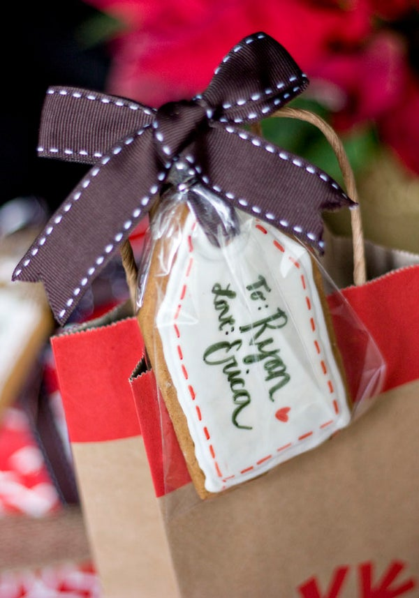 Gingerbread Gift Tag Cookies