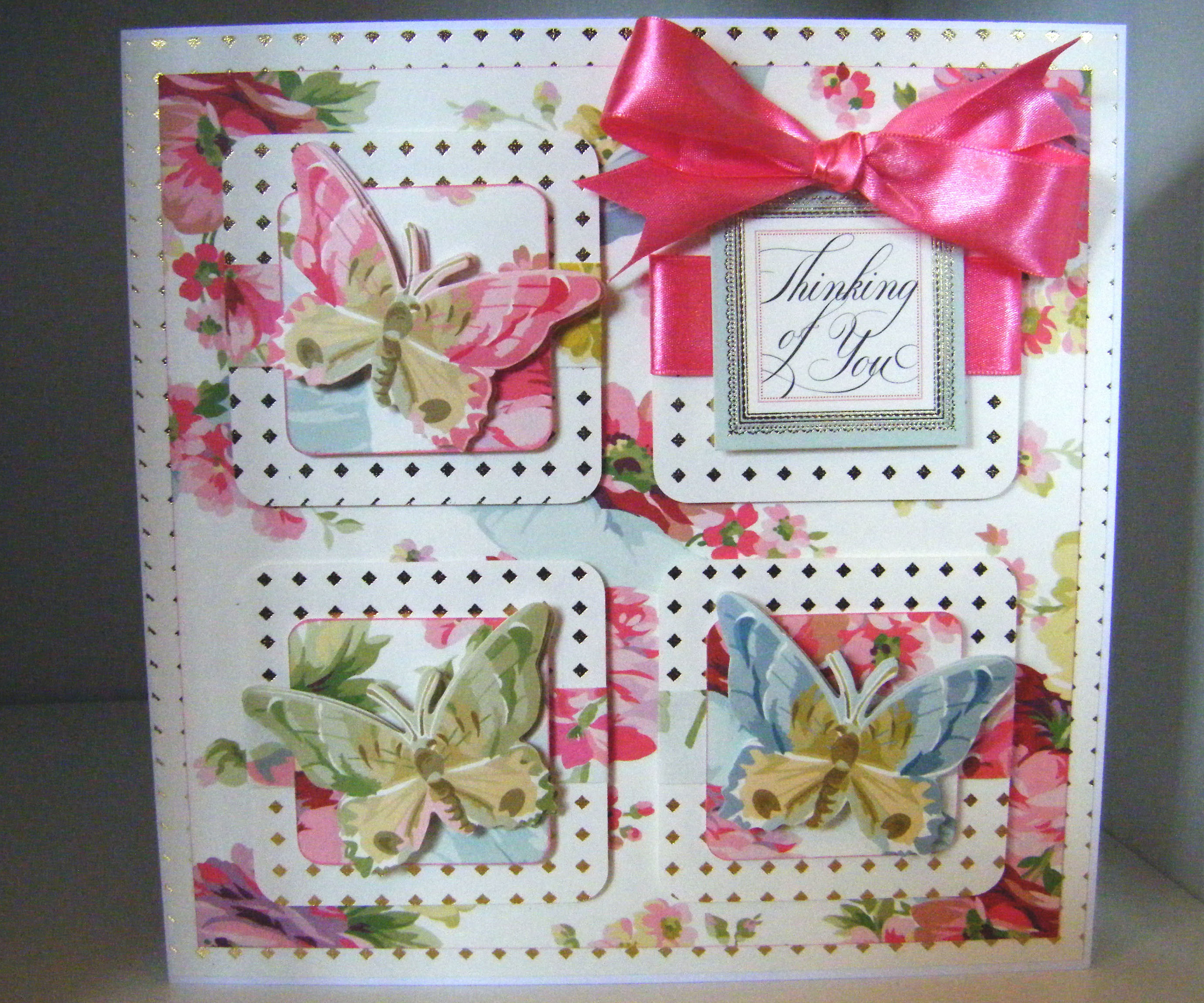 How to make a Beautiful Butterfly Rose Card