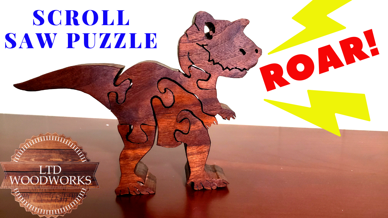 Children's Dinosaur Puzzle/Scroll Saw Project