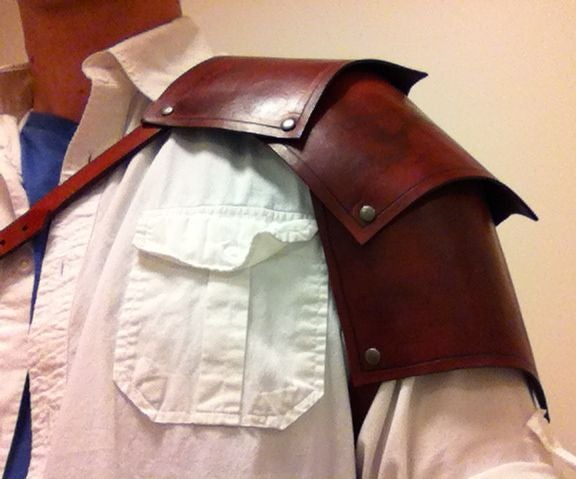 How to Make a Leather Pauldron (or Spaulder)